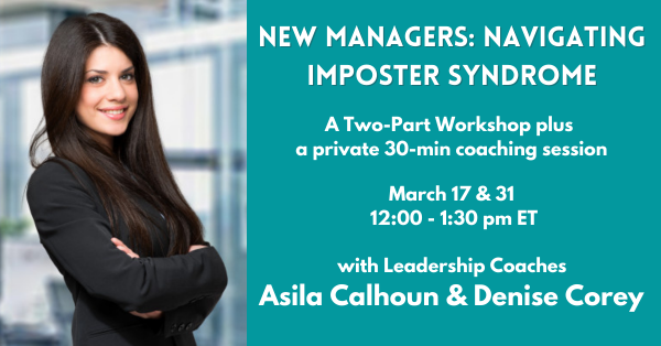 New Managers: Navigating Imposter Syndrome